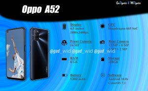 gadgets and widgets, gadnwid, oppo, oppo a52, a52, china, nepal, price in nepal, oppo a52 in nepal, key specs