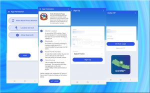 Covid-19, COVIDNP, corona virus app by nepal government, COVIDNP sign up