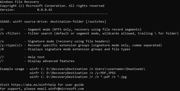 microsoft file recovery app, recover deleted files in windows