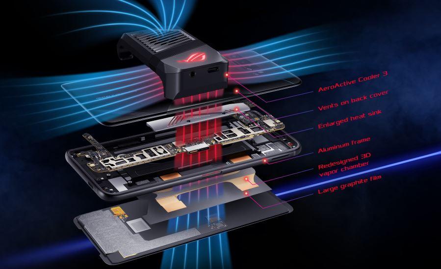 asus asus rog phone 3 internal cooling system