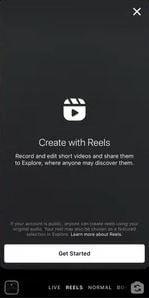 instagram reels, create instagram reels video