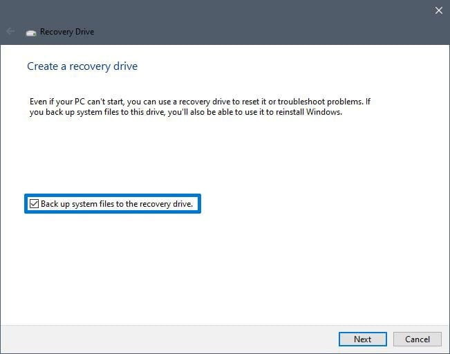 windows usb recovery drive, create recovery drive