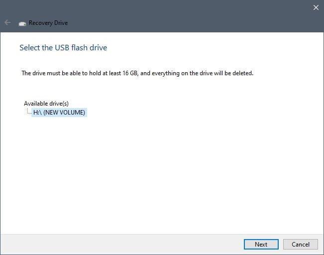 create windows usb recovery drive, usb recovery drive