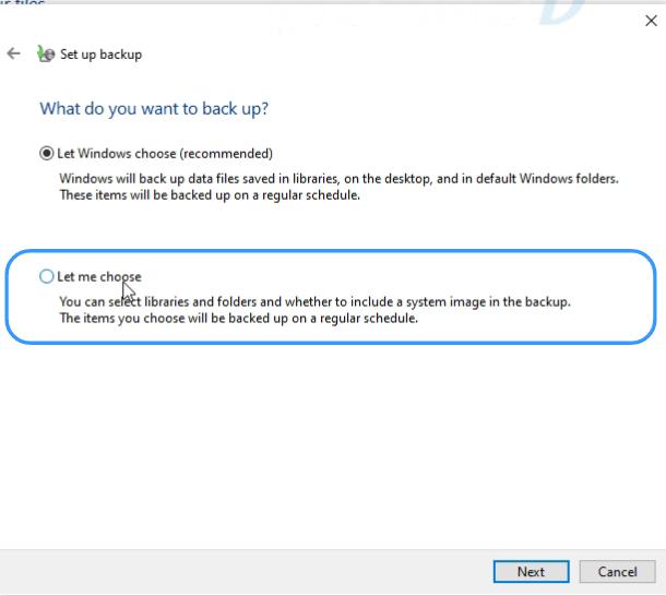 data back up on windows