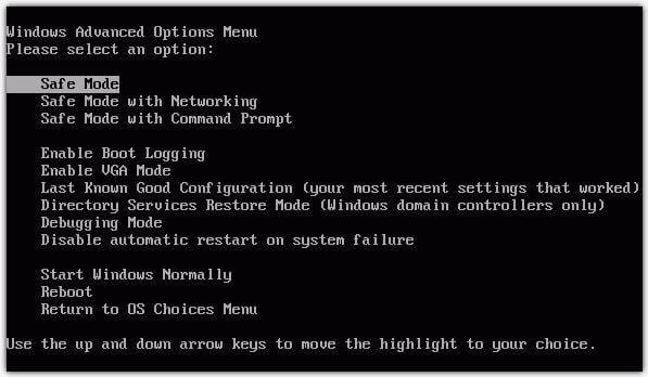 safe mode on windows, enable safe mode on windows