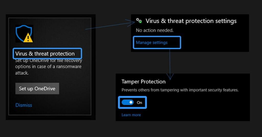 windows defender disable, enable windows defender