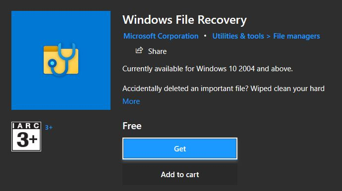 windows file recovery, recover deleted files