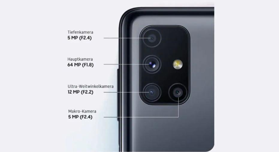 Samsung Galaxy M51 Camera