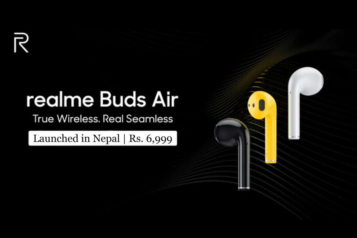 realme buds air launched in nepal, realme buds air price in nepal