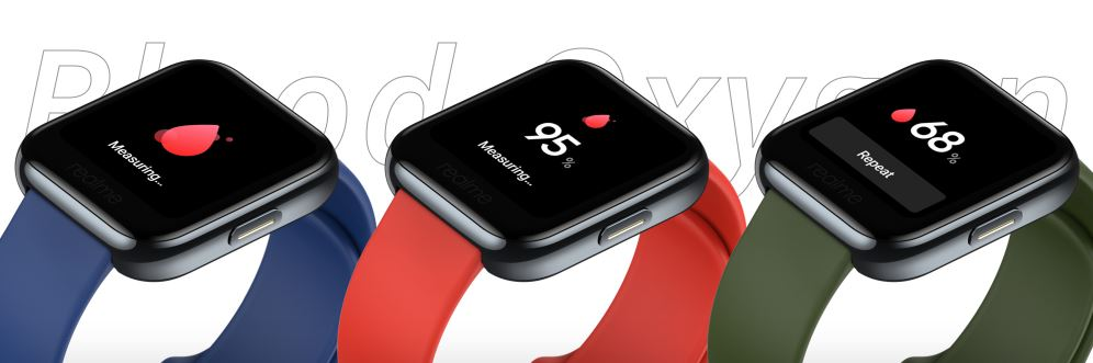 realme watch, realme watch sensors, heart rate monitor, oxygen level monitor