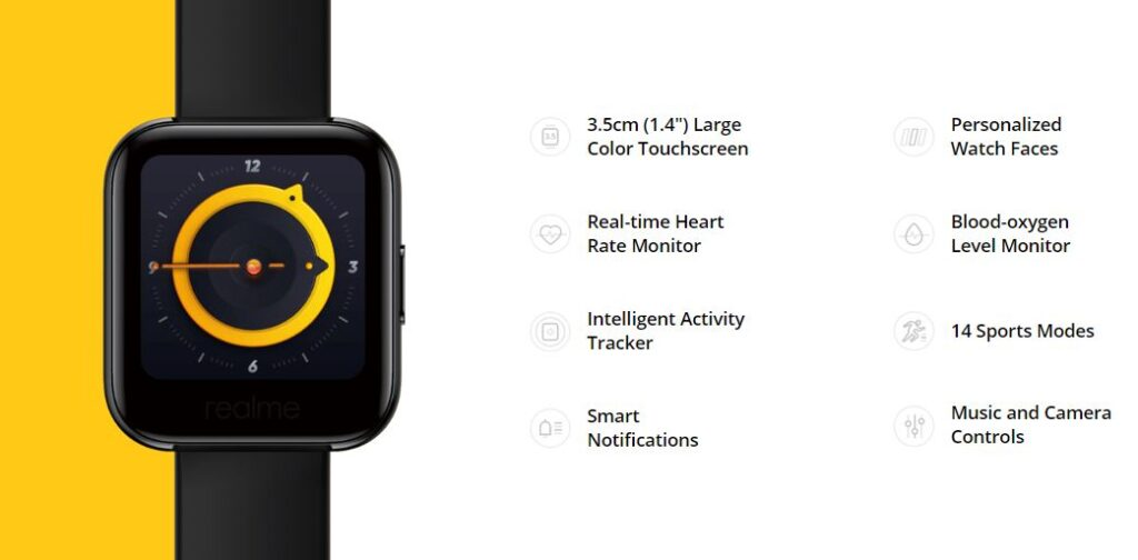 realme watch specifications