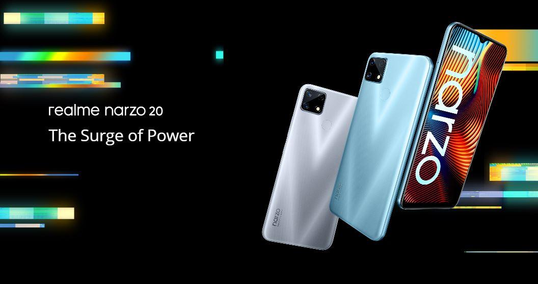 realme narzo 20 launched, realme narzo 20 price