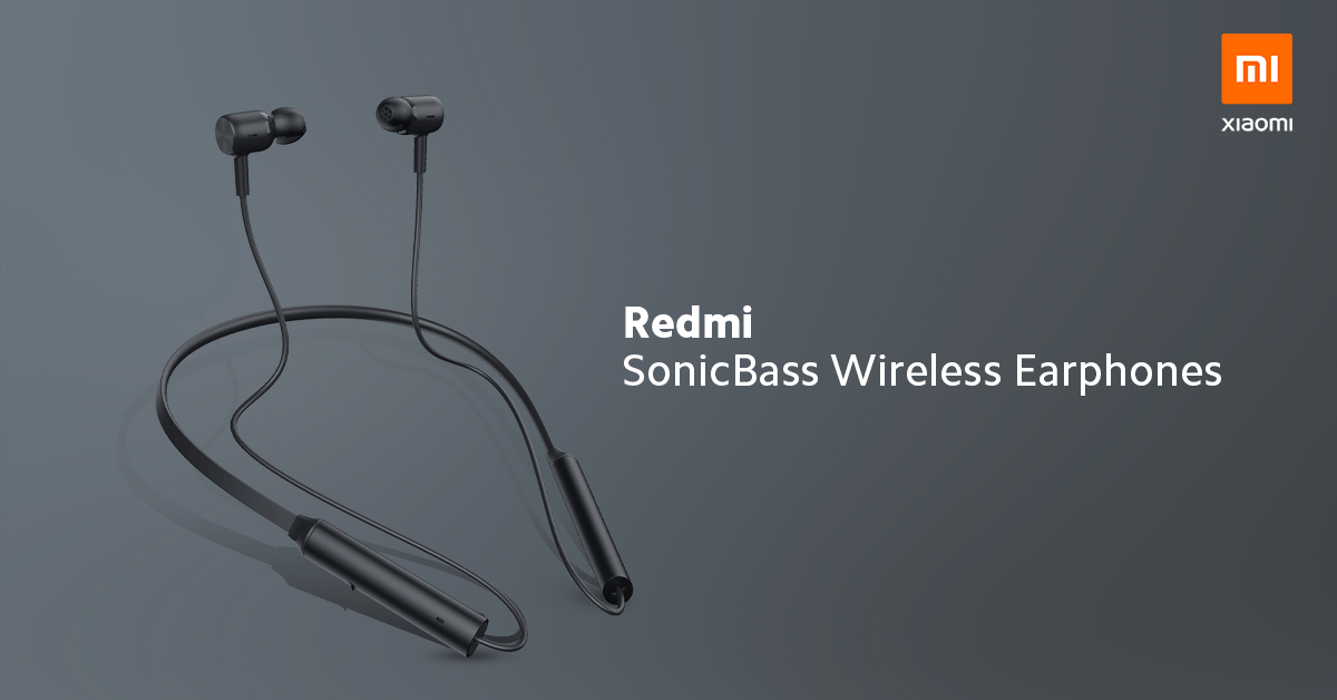 redmi sonicbass wireless earphone launched