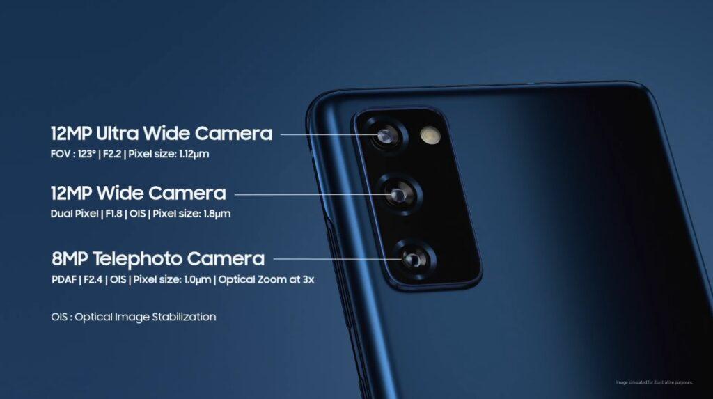 Samsung galaxy s20 fe cameras