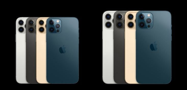 apple iphone 12 pro colors, apple iphone 12 pro max colors