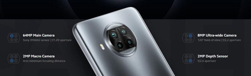 Xiaomi Mi 10T Lite Camera, Xiaomi Mi 10T Lite quad camera