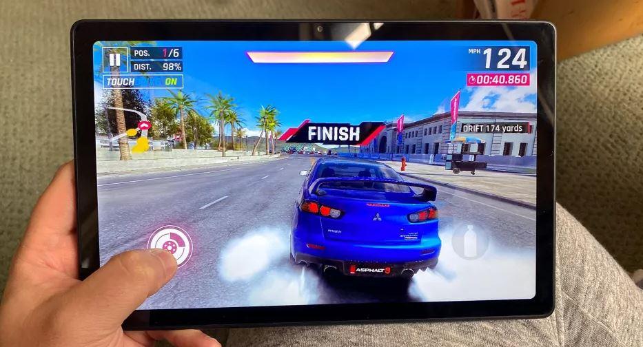 asphalt 9 on tablet, pubg mobile on tablet, cod mobile on tab, tab gaming, game on tab. game on tablet