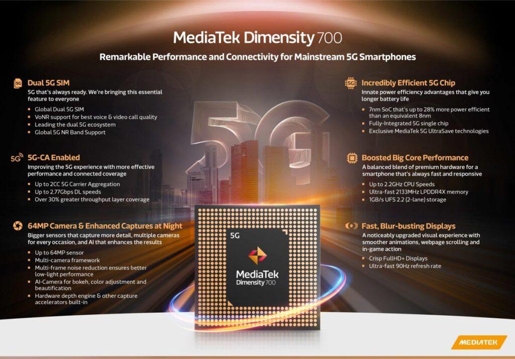MediaTek Dimensity 700 specification