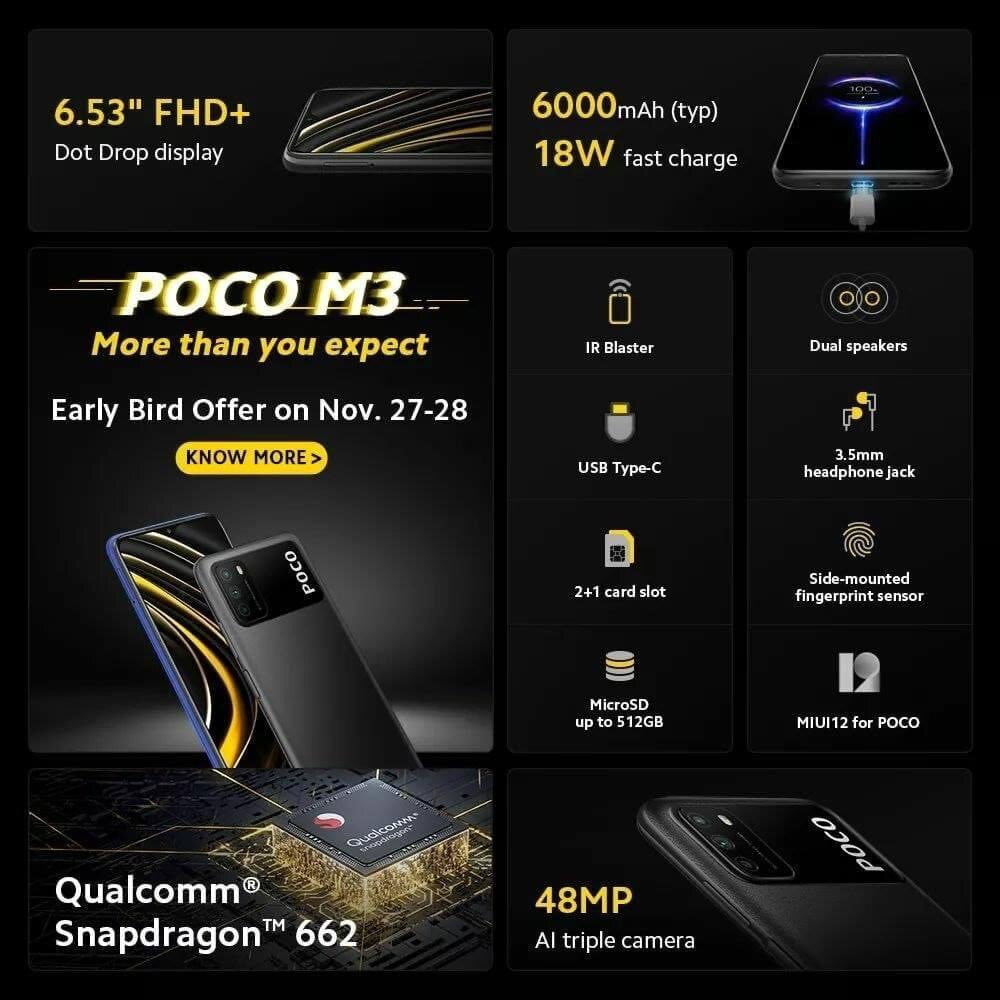 Poco M3 detailed specfications