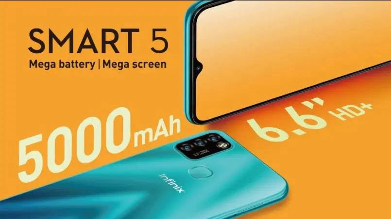 infinix smart 5 display, infinix smart 5 battery