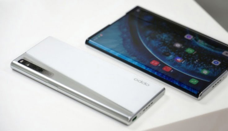 oppo x 2021, rollable phone, extendable screen