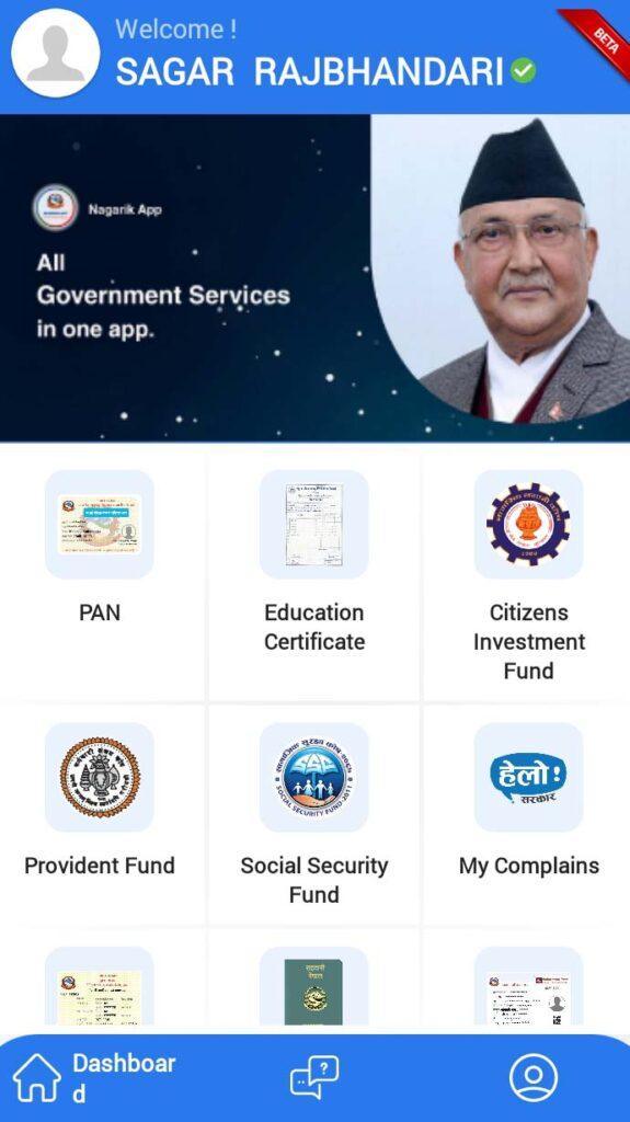 Nagarik App Nepal with government servises