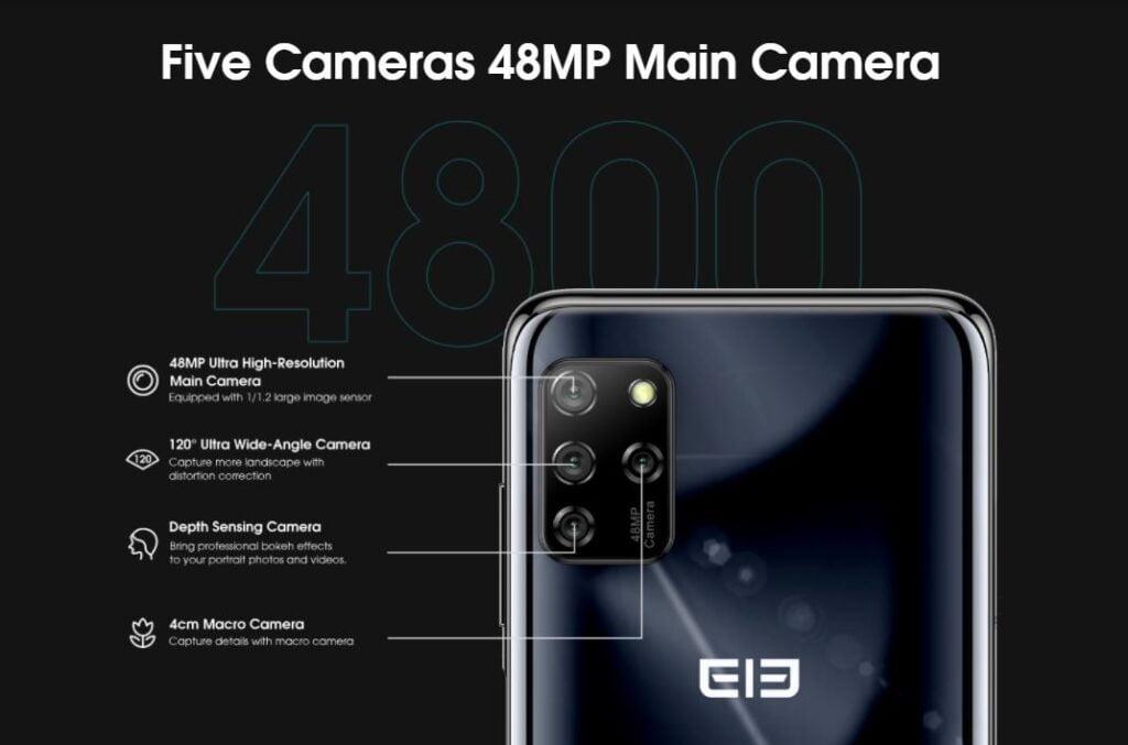 Elephone E10 camera setup