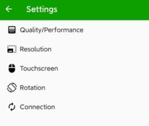 settings to use mobile phone as secondary screen
