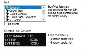 command prompt change font size and type, change font type, change font size on cmd, font type of cmd changed, change font on command prompt