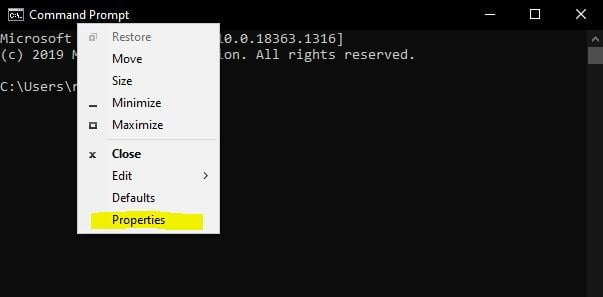 cmd, command prompt, windows cmd,change color on command prompt, change color on cmd, properties of command prompt