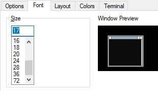 command prompt change font size and type, change font type, change font size on cmd, font size of cmd changed