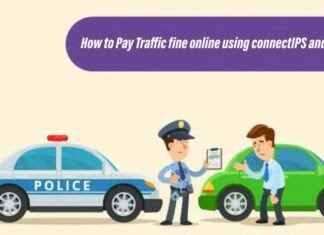traffic fine online payment in Nepal using connectIPS and esewa