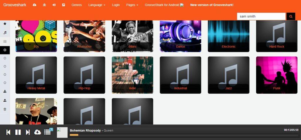 Grooveshark, Unblocked music sites
