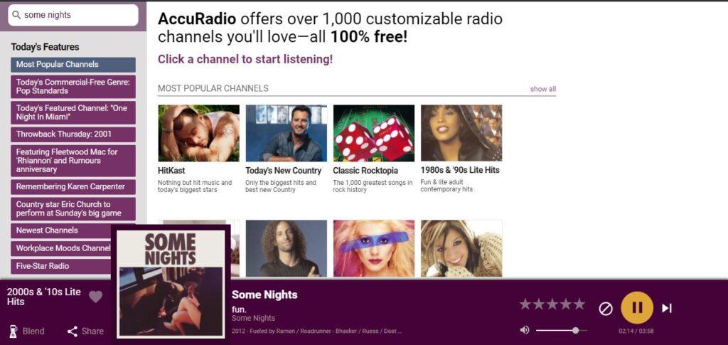 AccuRadio, Unblocked music sites