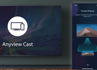 how to connect android/ios device to smart tv uing anyview cast?