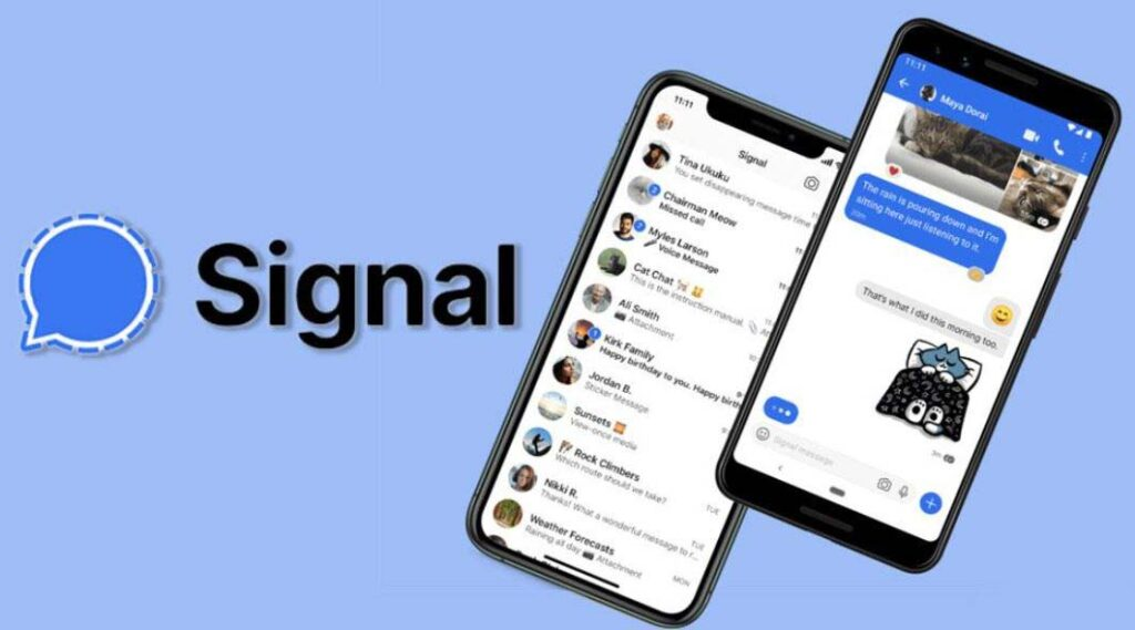 Signal app to encrypttext and call
