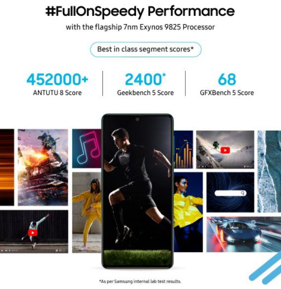 Galaxy F62 flagship processor