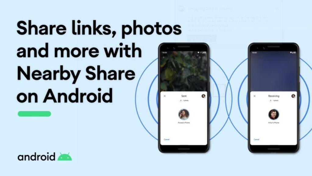 How to use nearby share in Android, google nearby share