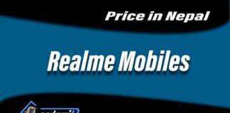 Realme Mobiles price in Nepal. Realme smartphones price in Nepal