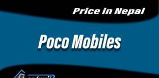 Poco mobiles price in Nepal, price of poco mobiles in Nepal, poco Nepal