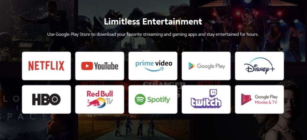 Apps available in Mi TV Stick