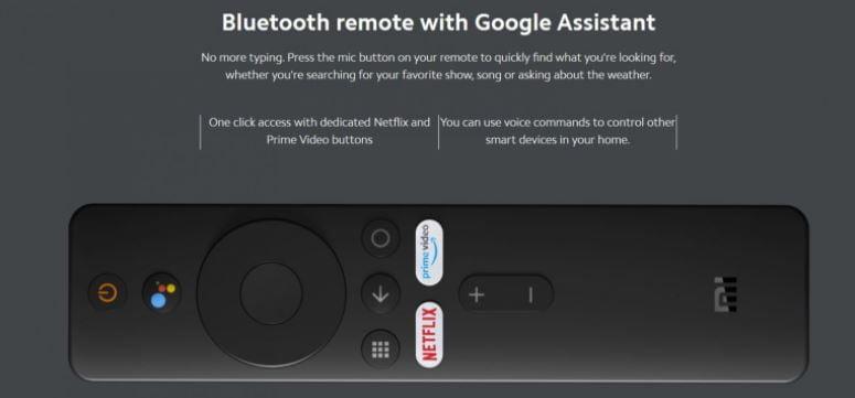 bluetooth remote of mi tv stick