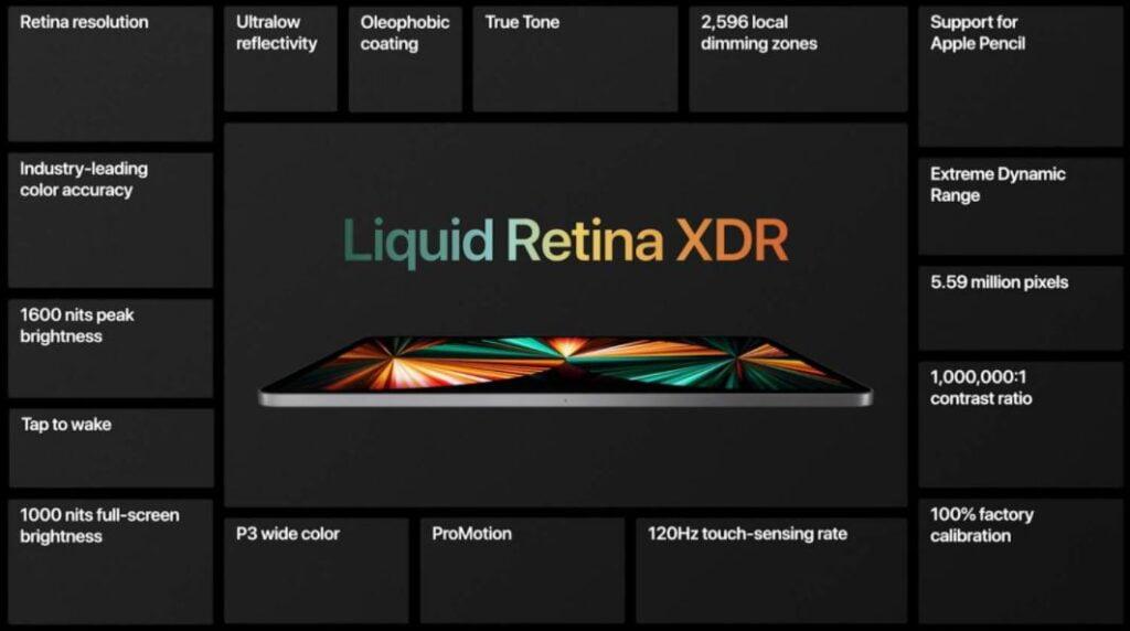 apple ipad pro 2021 liquid retina display,