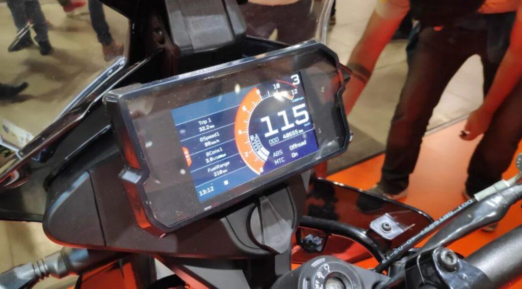 TFT console, TFT speedometer, lcd speedometer, lcd console , digital lcd tft screen, tft screen on ktm, ktm adventure console
