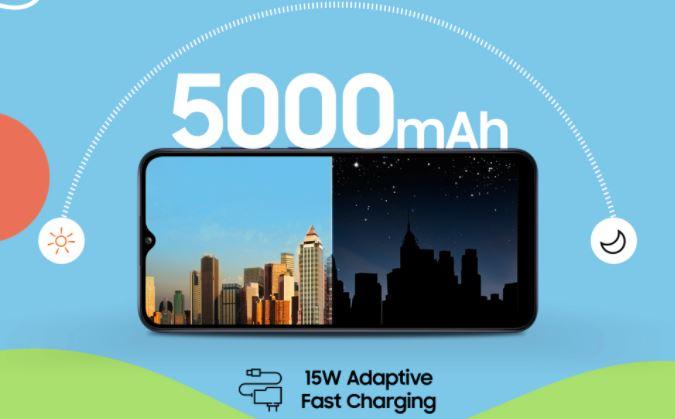 galaxy f02s battery capacity, battery capacity on galaxy f02s, galaxy f02s battery power, 5000 mah battery