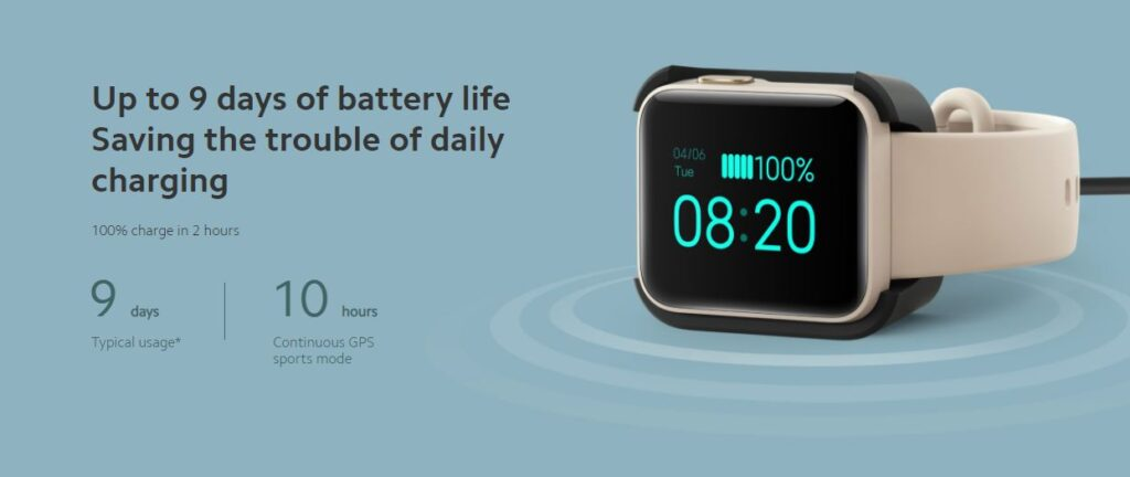 mi watch lite battery life, battery capacity of mi watch lite, mi watch lite battery capacity