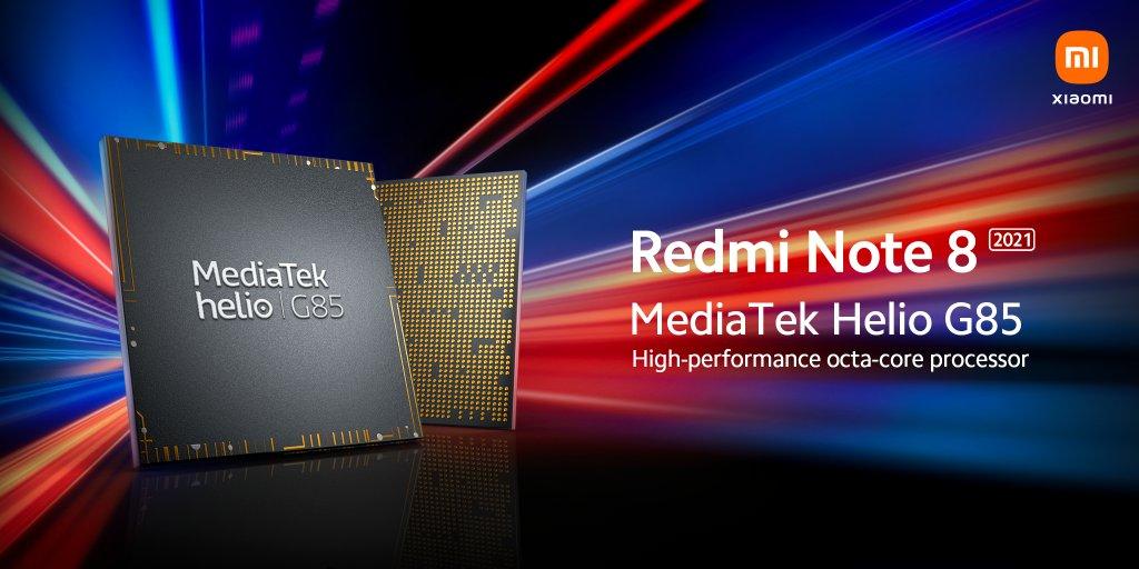 Redmi Note 8 2021 chipset MediaTek Helio G85