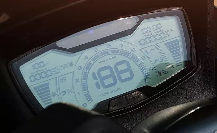 digital console, lcd console, digital speedometer on scooter, scooter digital meter