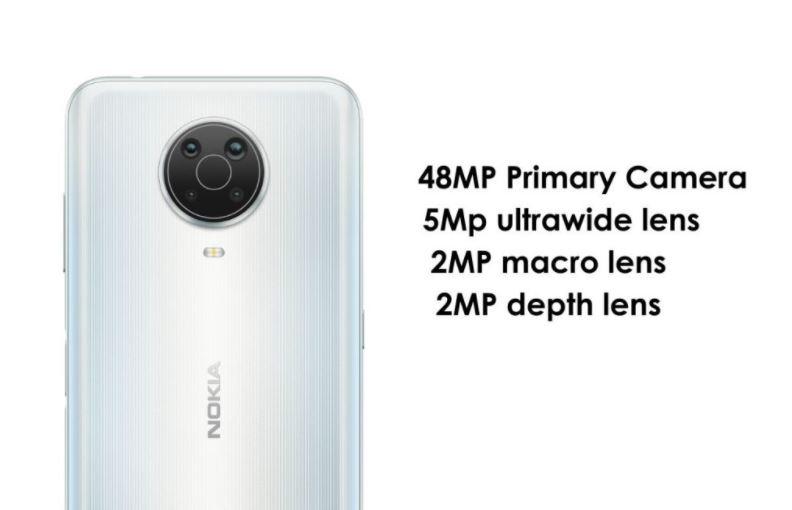 Nokia G20 optics, Nokia G20 camera setup, Nokia G20 quad camera setup