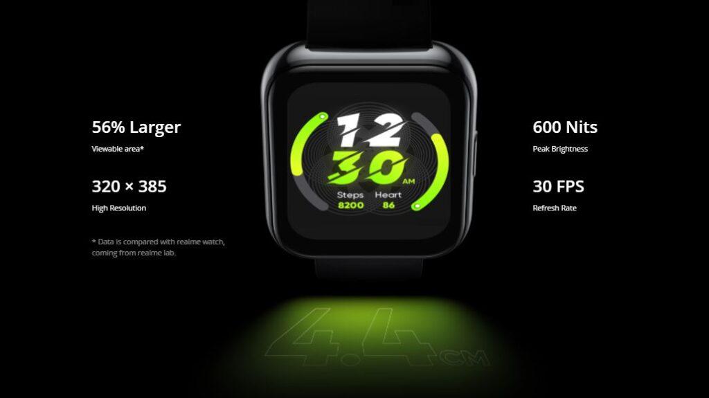 display realme Watch 2 Pro, Realme watch 2 pro vs Realme watch
